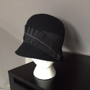 Urban Outfitters Black Wool Cloche